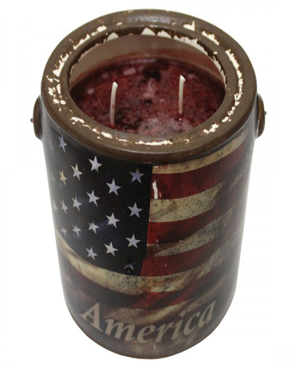 A Cheerful Giver FF224 American Flag Juicy Apple Top View