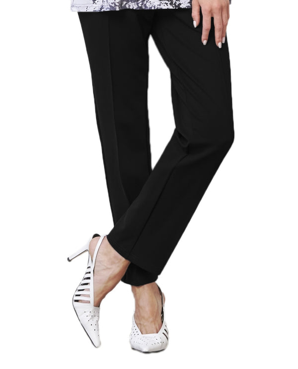 Sympli H6706 Cinch Trouser in black have a tailored professional look but are comfortable