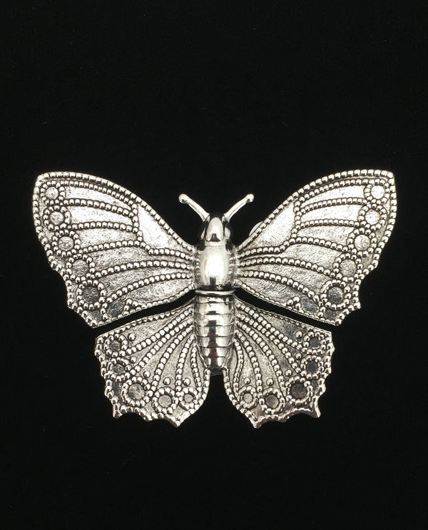 Large Silver Butterfly Brooch
