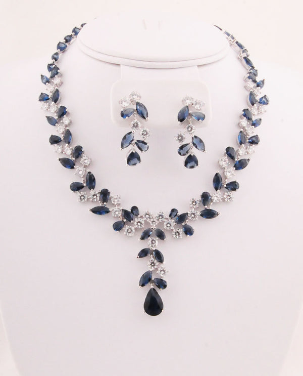Cubic Zirconia Vine Necklace Set