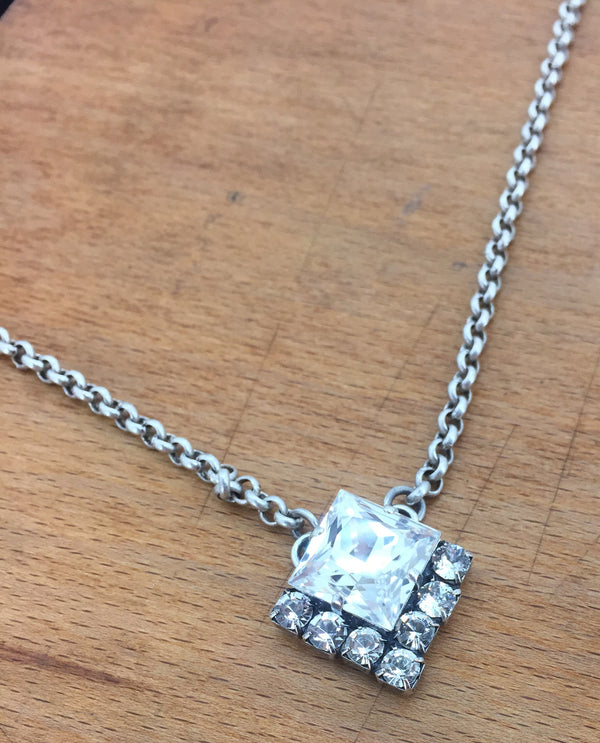 RACHEL MARIE DESIGNS Square Cut Pendant Necklace