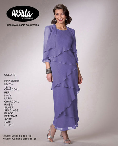Ursula 61215 Tiered Dress With Jacket