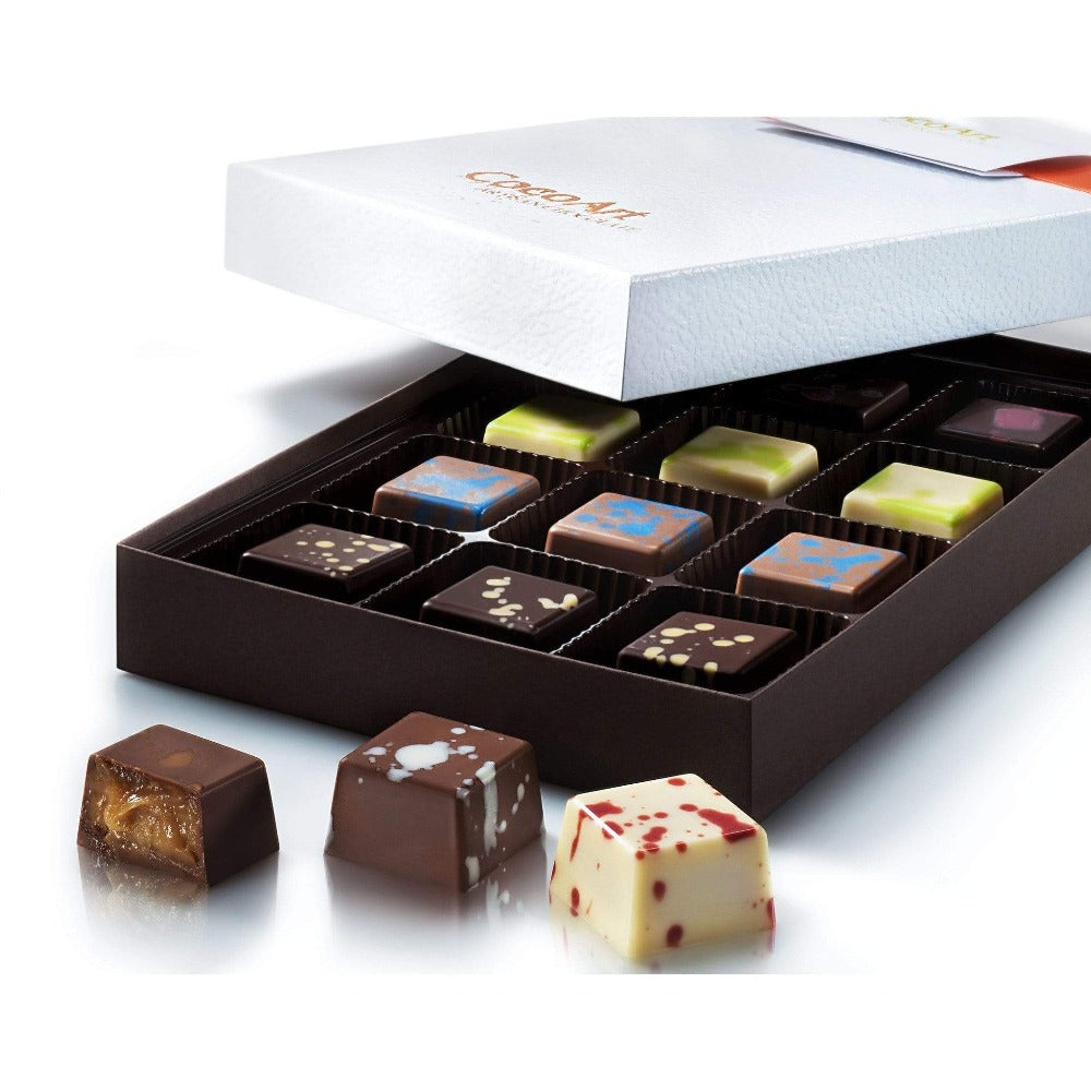 Build Your Own Luxury Chocolate Truffle Box (12 pcs.) - Upper Class Chocolate