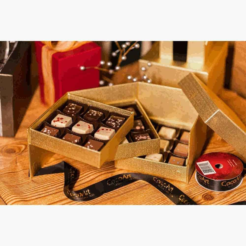 Gourmet Chocolate Truffle, Beautiful  Gift Box, 3 Tier 27 Pc. Happy Holiday gift, impressive gift for friend and family and cooperates.