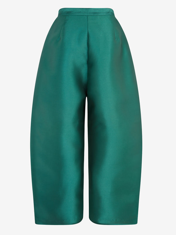Balloon Trousers (green satin)