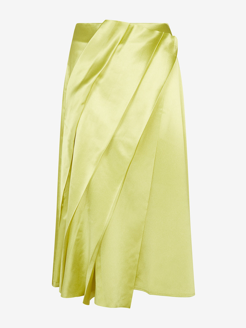 Architectural Pleated Skirt (Neon)
