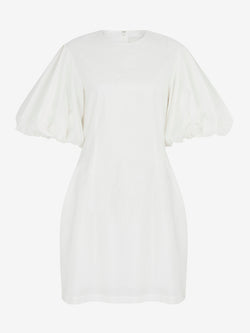 BALLOON SLEEVE MINI DRESS (Ivory)