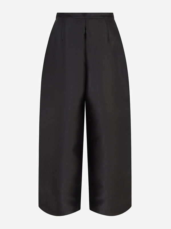 Balloon Trousers (black satin)