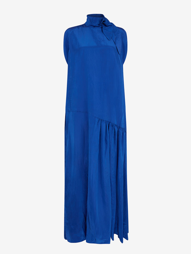 Cape Tie Maxi Dress (cobalt)