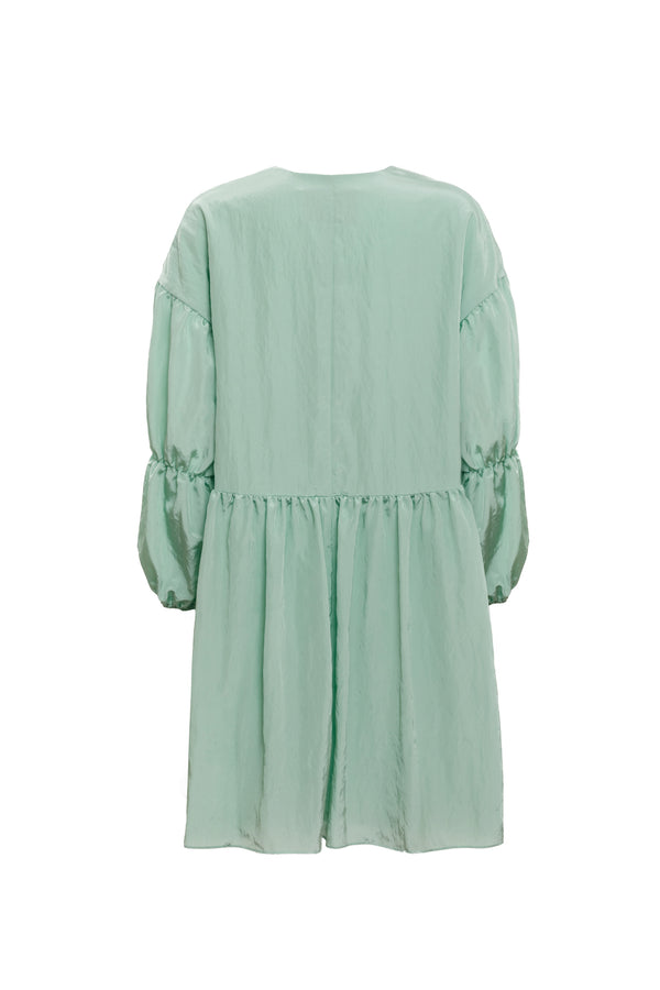 Tiered Sleeve Peplum Dress (Mint)