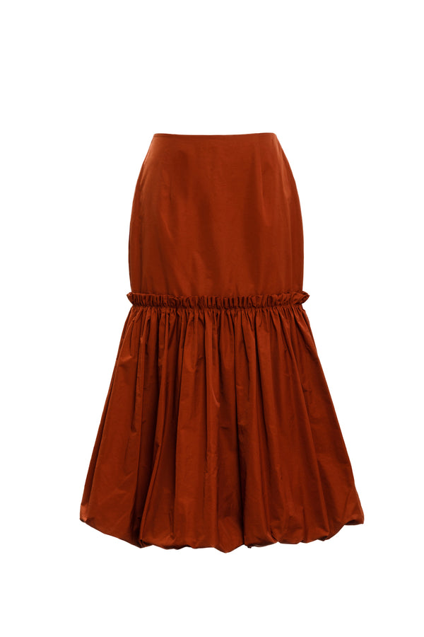 BUBBLE HEM SKIRT (Terracotta)