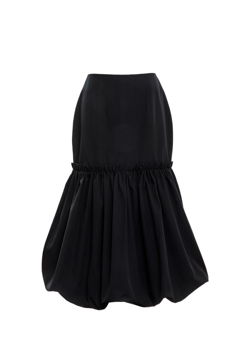 BUBBLE HEM SKIRT (Black)