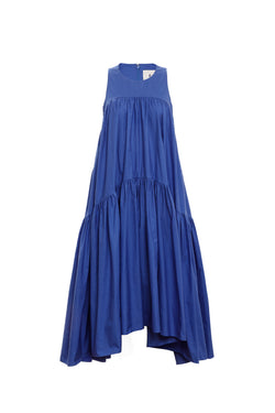 Hi Lo Multi Tier Dress (Bluebell)