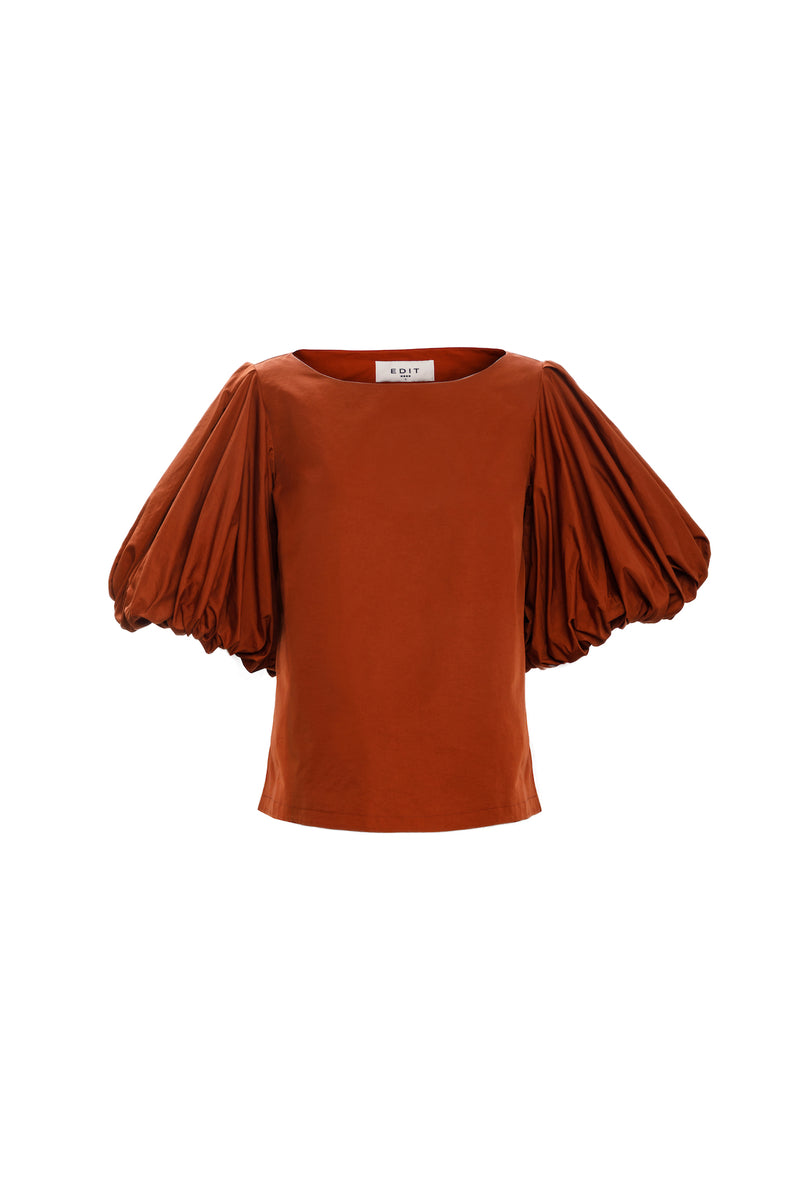 Balloon Sleeve Top (Terracotta)