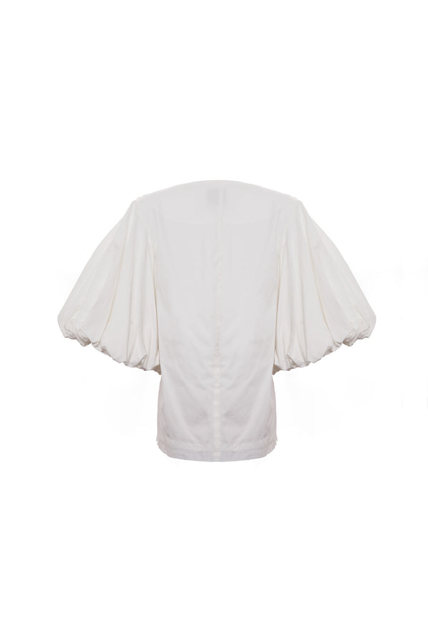 Balloon Sleeve Top (Ivory)