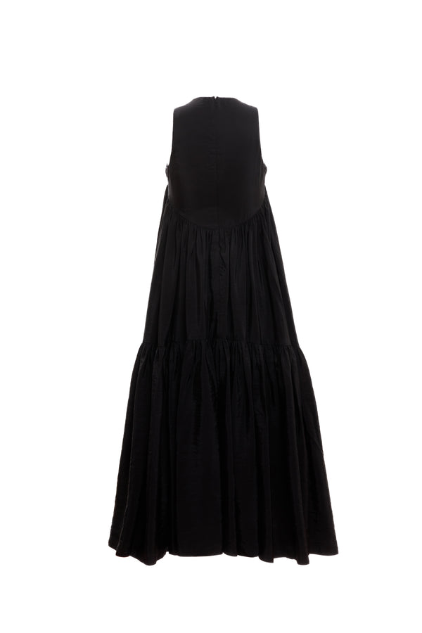 Hi Lo Multi Tier Dress (Black)