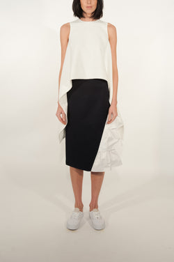 Peplum Tiered Midi Skirt