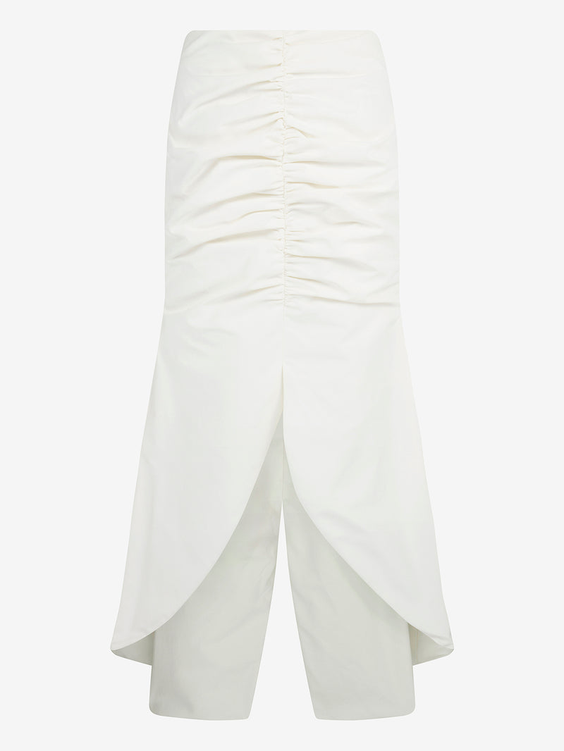 RUCHED FRONT FISHTAIL SKIRT (Ivory)