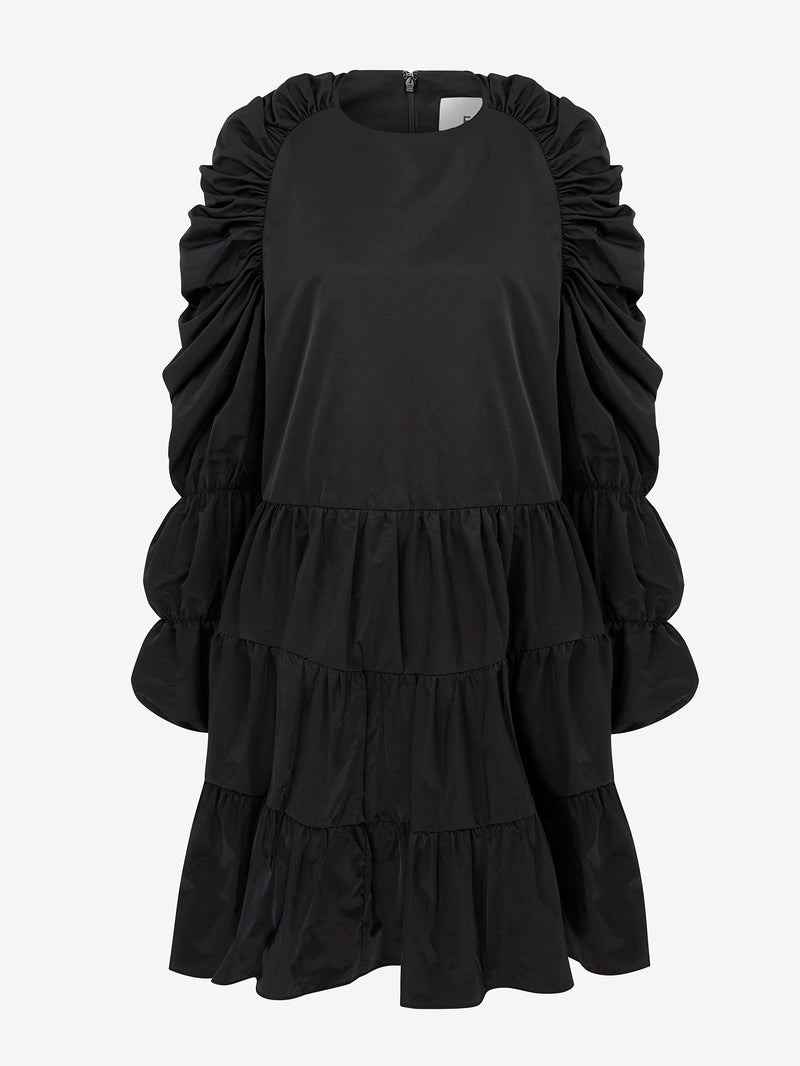 MULTI TIER SWING DRESS (Black)