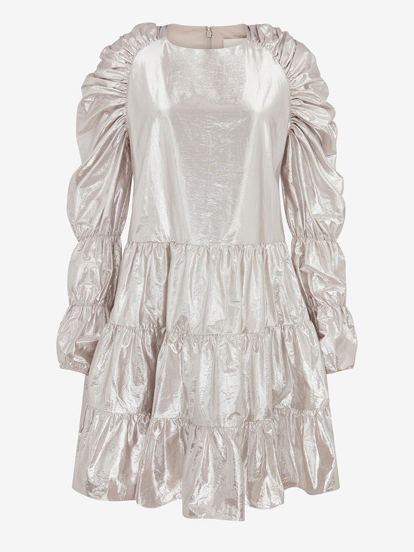 MULTI TIER SWING DRESS (Silver)
