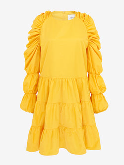 MULTI TIER SWING DRESS (Sun yellow)