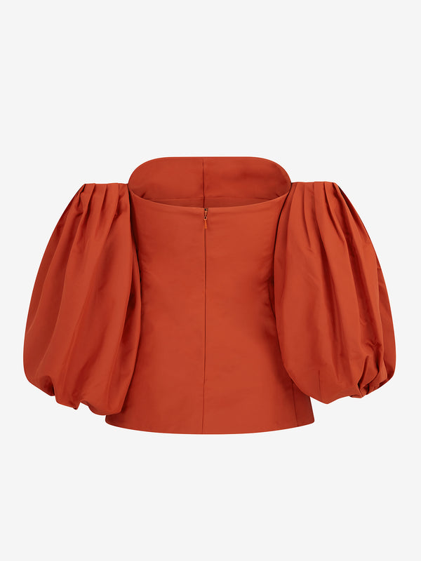 Off The Shoulder Top (Pumpkin)