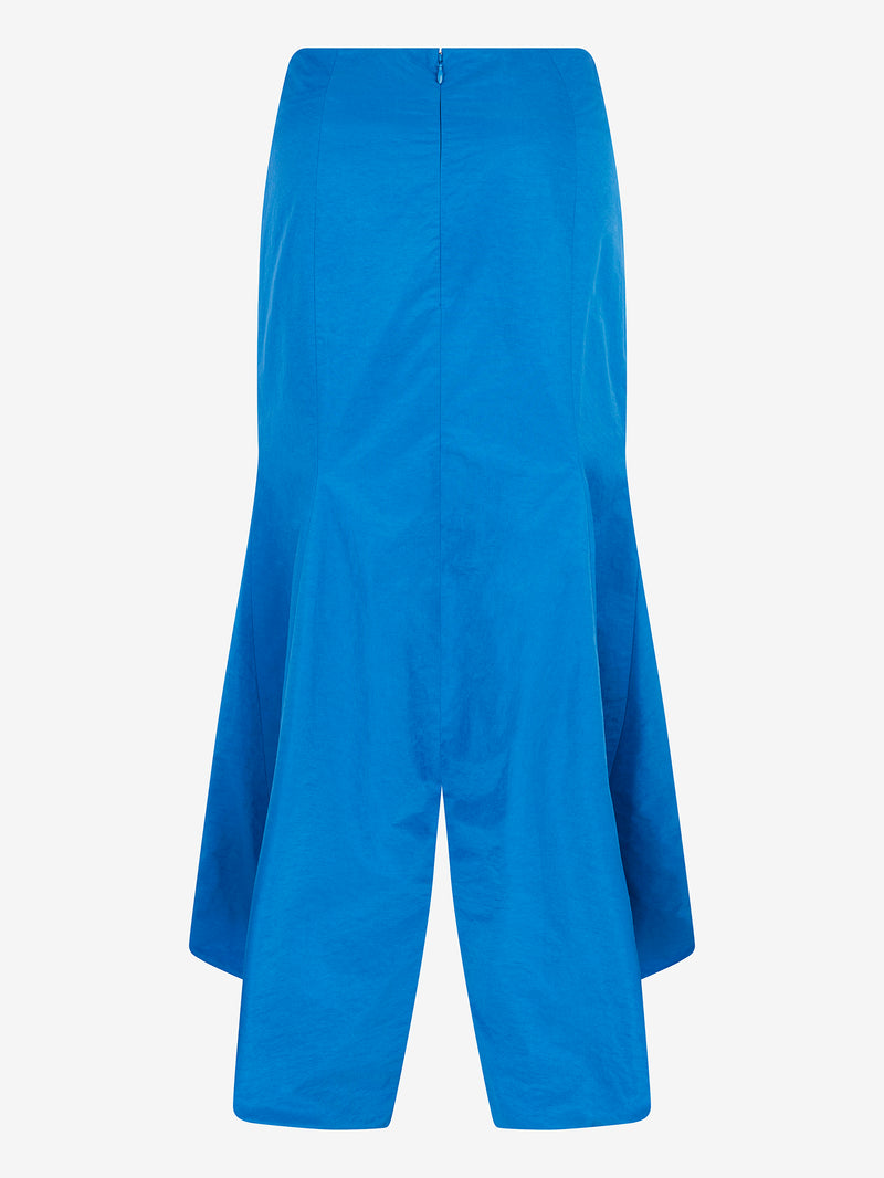 RUCHED FRONT FISHTAIL SKIRT (Sky blue)
