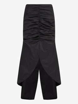 RUCHED FRONT FISHTAIL SKIRT (Black)