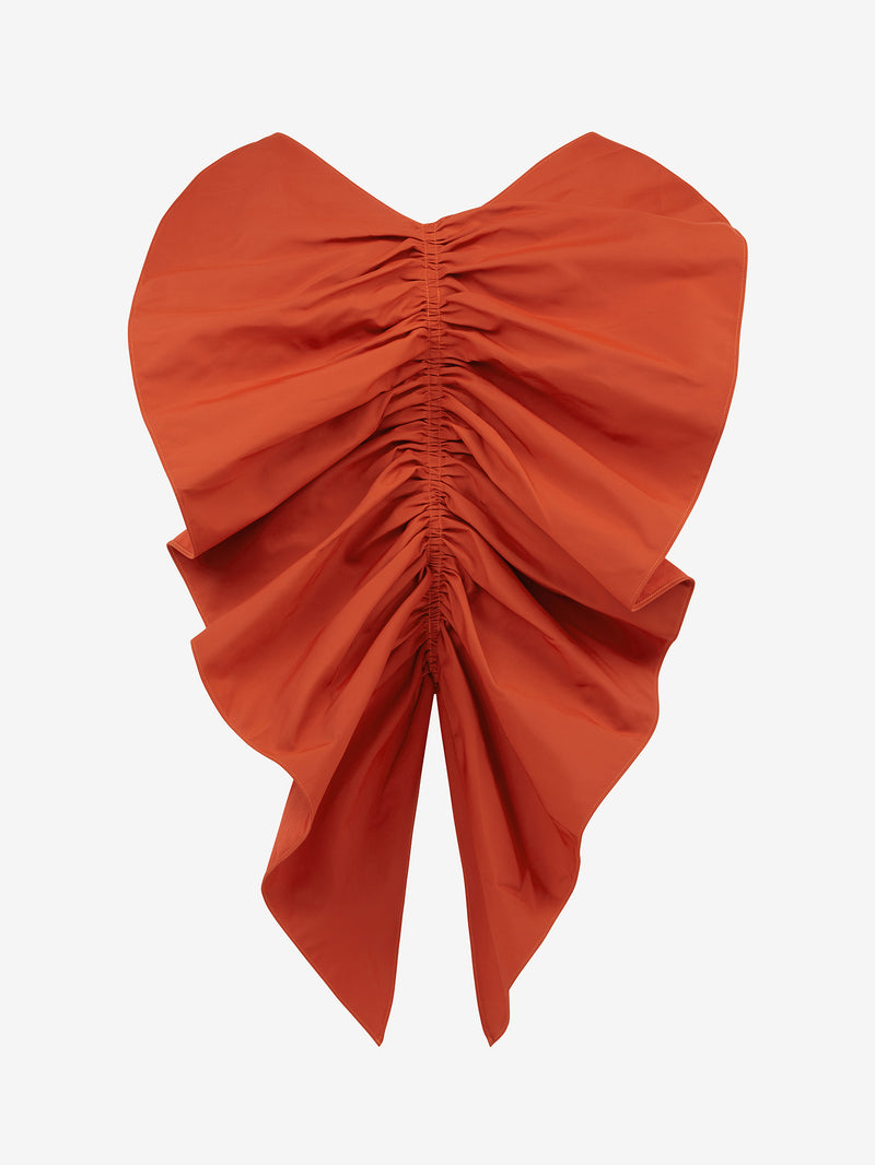 Tuck Frill Strappy Top (Pumpkin)