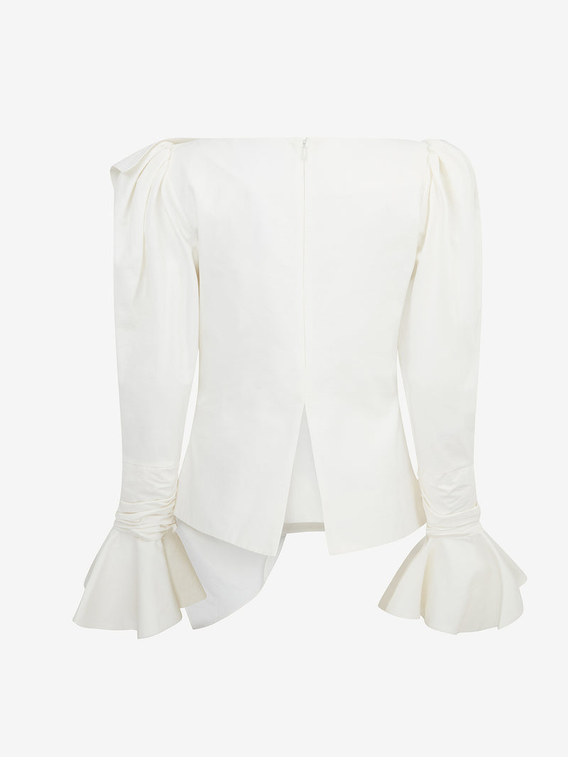 Tuck Frill LS Top (Ivory)