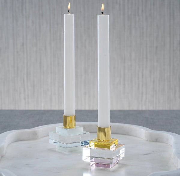 Vera Crystal Square Candle Holder