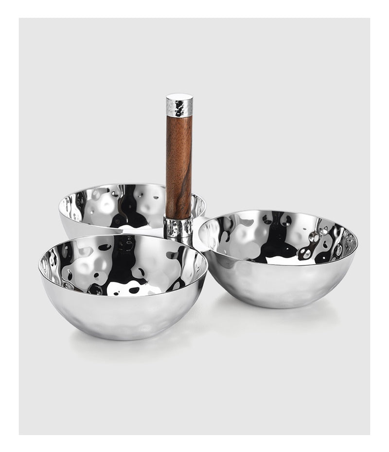 Sierra 3 Bowl Set with Wood Handle