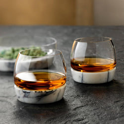 Whiskey Tumbler with Marble Base