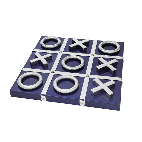 Blue and Silver Tic Tac Toe