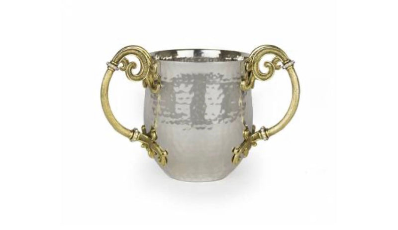 Hammered Swirled washing Cup