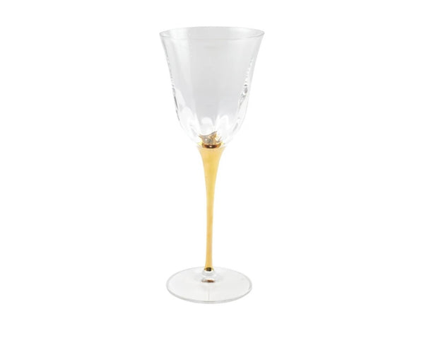 Optical Gold Stem Wine Glass