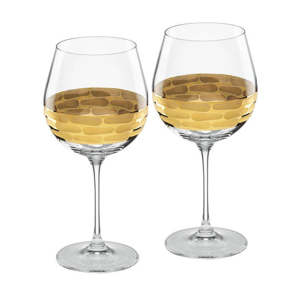 Truro gold / red wine / set of 2