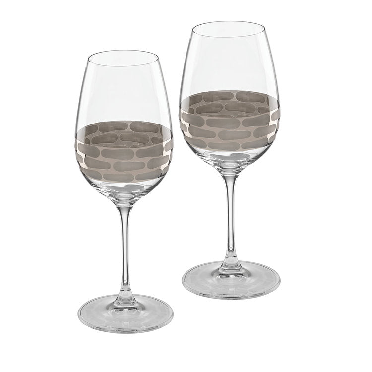 Truro platinum / white wine / set of 2