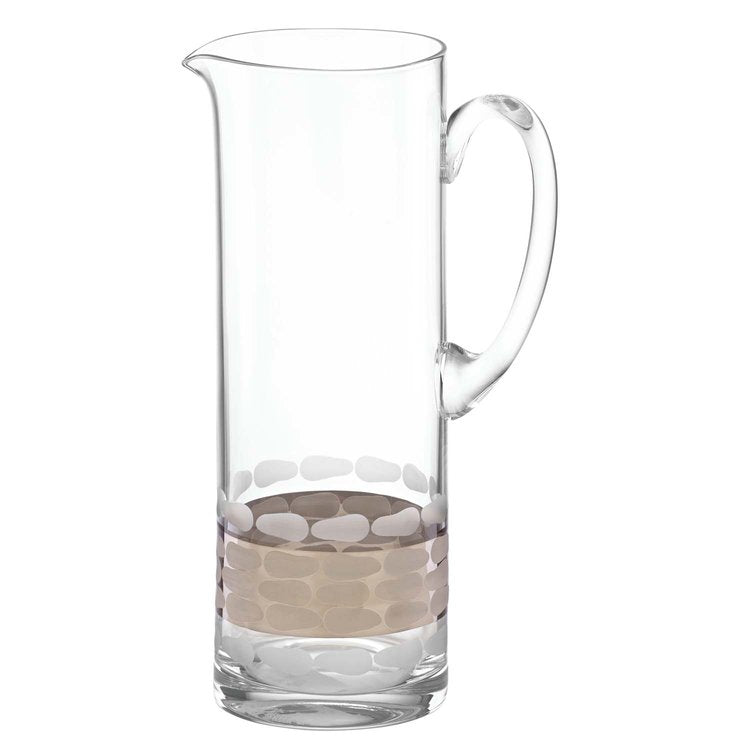 Truro glass pitcher gold or platinum