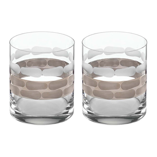 Truro platinum double / old fashioned / set of 2