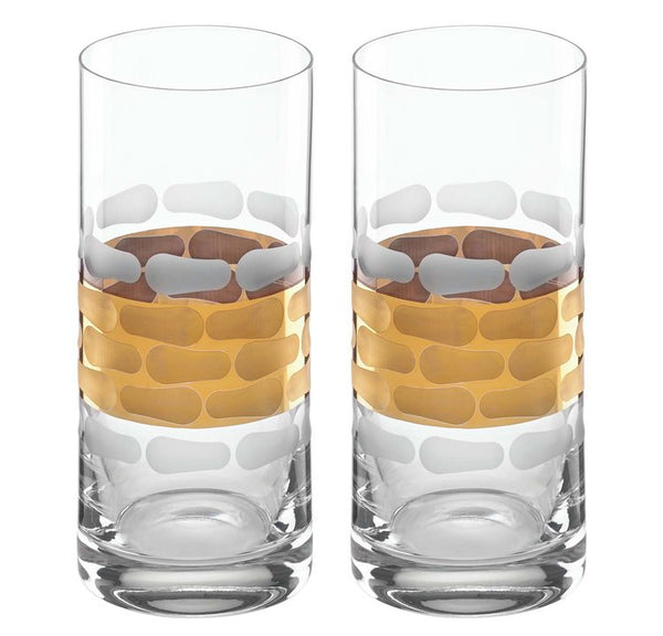 Truro gold / highball / set of 2