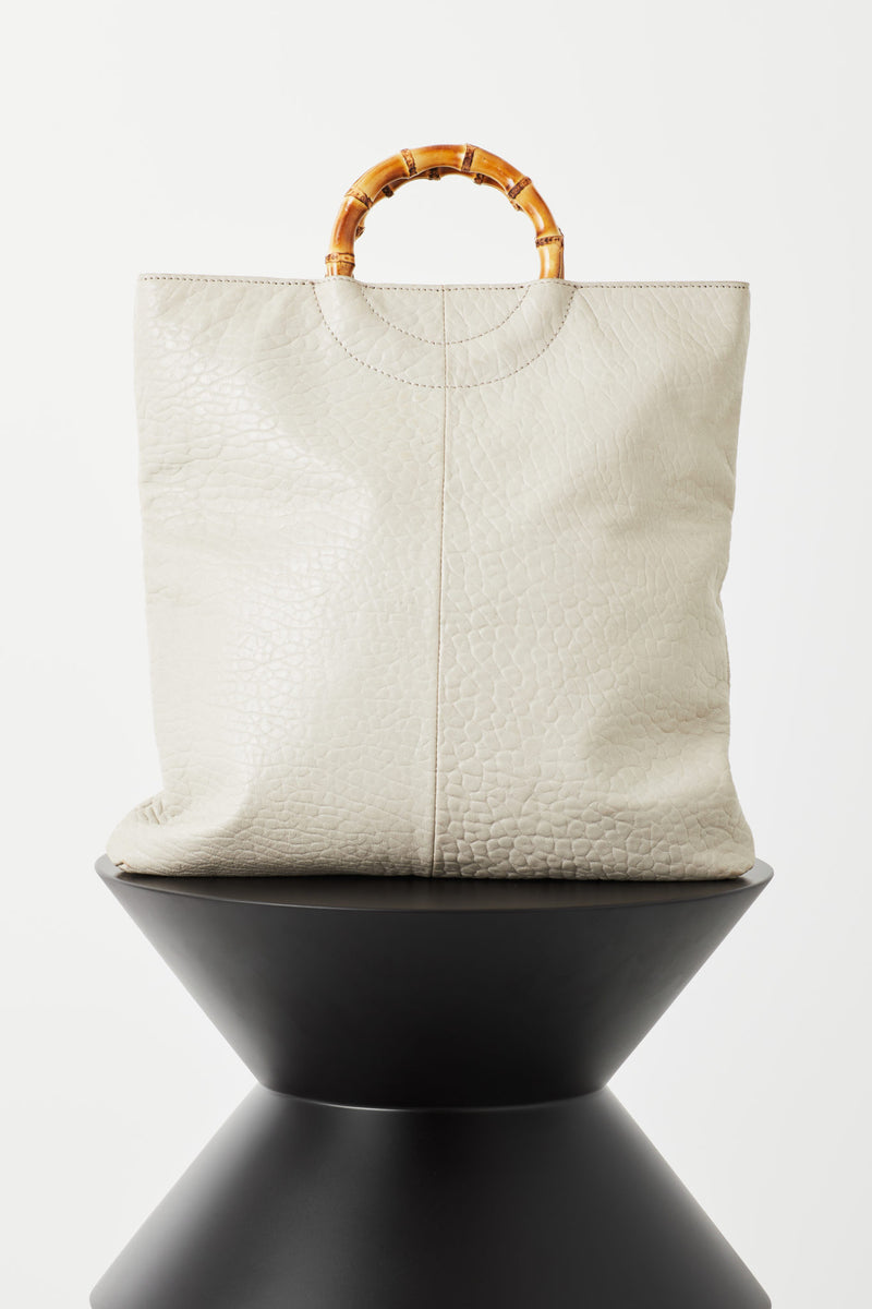 Elise Tote in Grey Bubble Leather