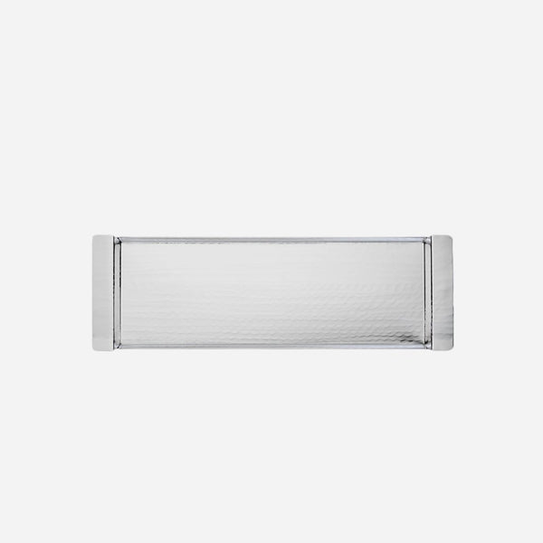 Silver Plated Hammered  Rectangle Tray