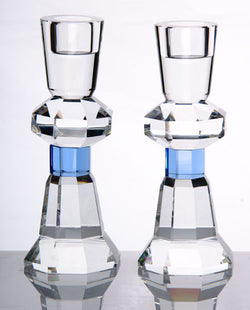 Crystal  Pair of Candlesticks