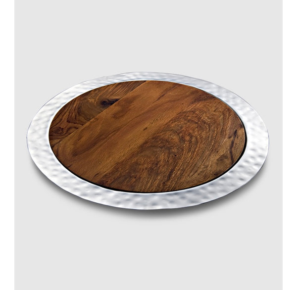 Sierra Round Tray with Wood Insert