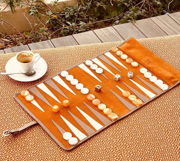 Victor Travel Backgammon Set Leather