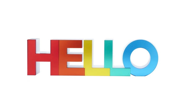 Rainbow Mirror Hello Stand-alone