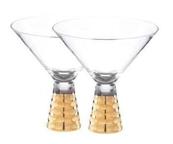 Truro Gold Martini Glasses set of 2