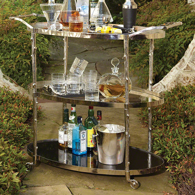 Arbor Brass Bar Cart