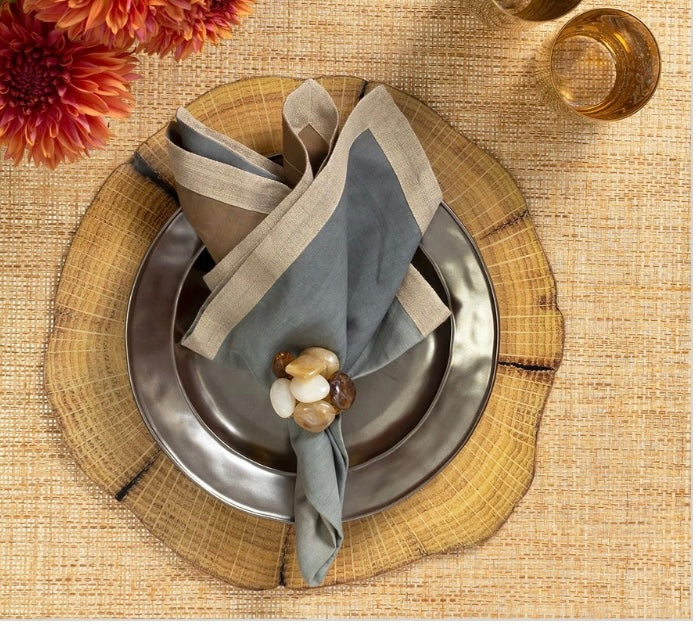 WOODLAND PLACEMAT IN NATURAL & BROWN, SET OF 4